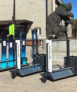 mobile ski racks on casters