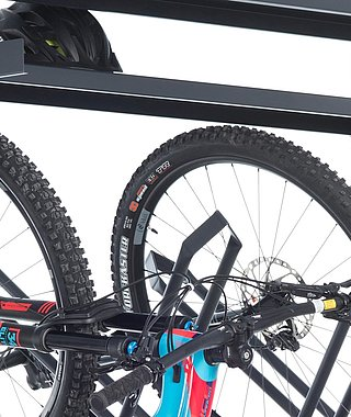 BIKE PLUS RACK - bike and helmet storage