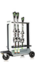 EASY OUTDOOR RACK - ski rack with extra large casters for the outdoor area