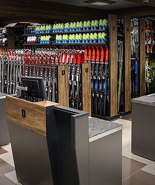 shop furniture for ski rentals